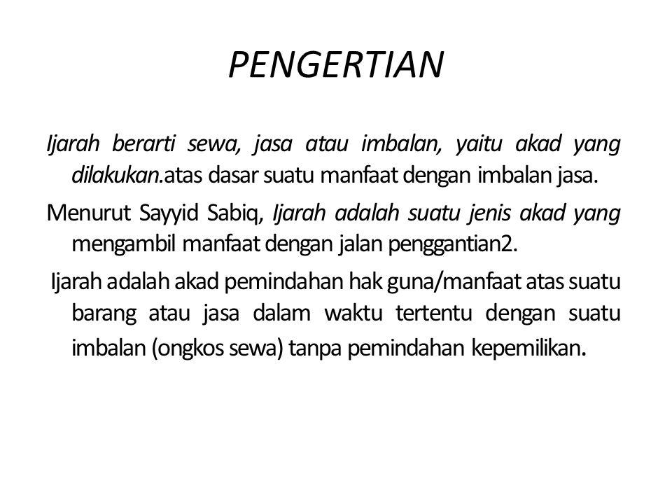 Hukum Perbankan Syariah Akad Ijarah Dosen pengampu: Dewi Nurul Musjtari,S.H,, M.Kn Nama : Desi Ernawati NPM : 20100730086 Fakultas Agama islam Ekonomi