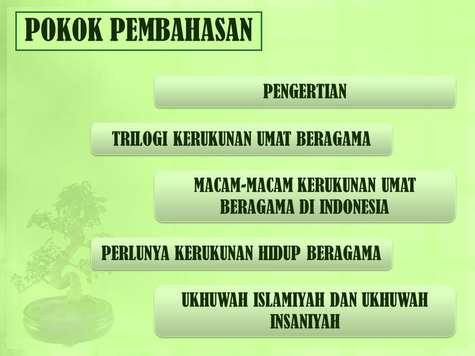 KERUKUNAN UMAT BERAGAMA ENDAH KURNIA PUTRI RETNO INTAN R KAT PA4/12