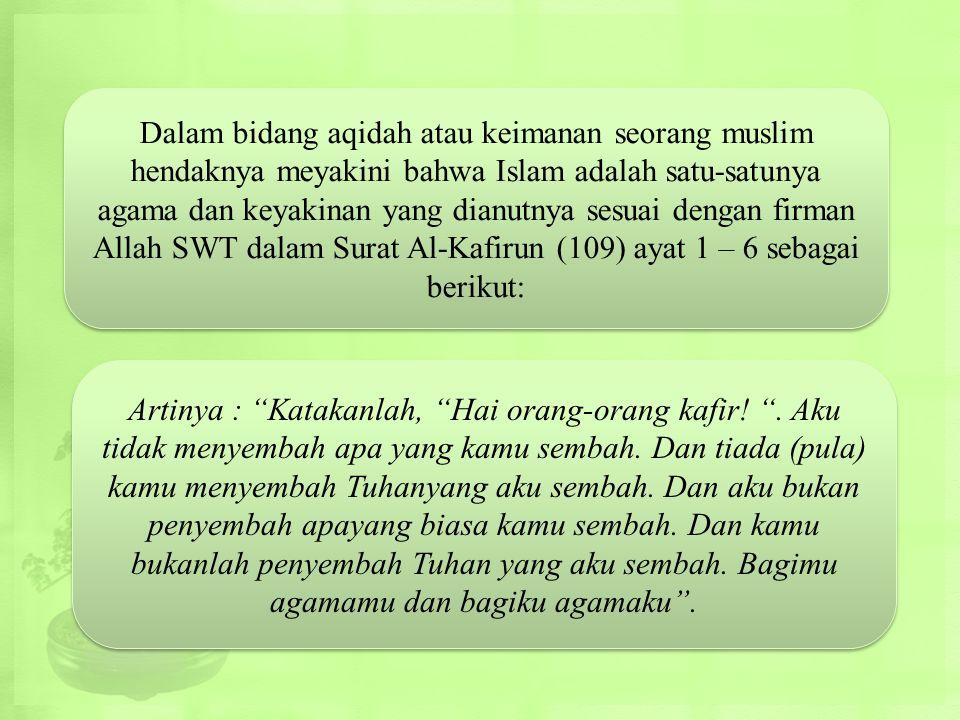 """Kerukunan dalam Islam diberi istilah """"tasamuh """" atau toleransi. Sehingga yang di maksuddengan toleransi ialah kerukunan sosial kemasyarakatan, bukan d"""