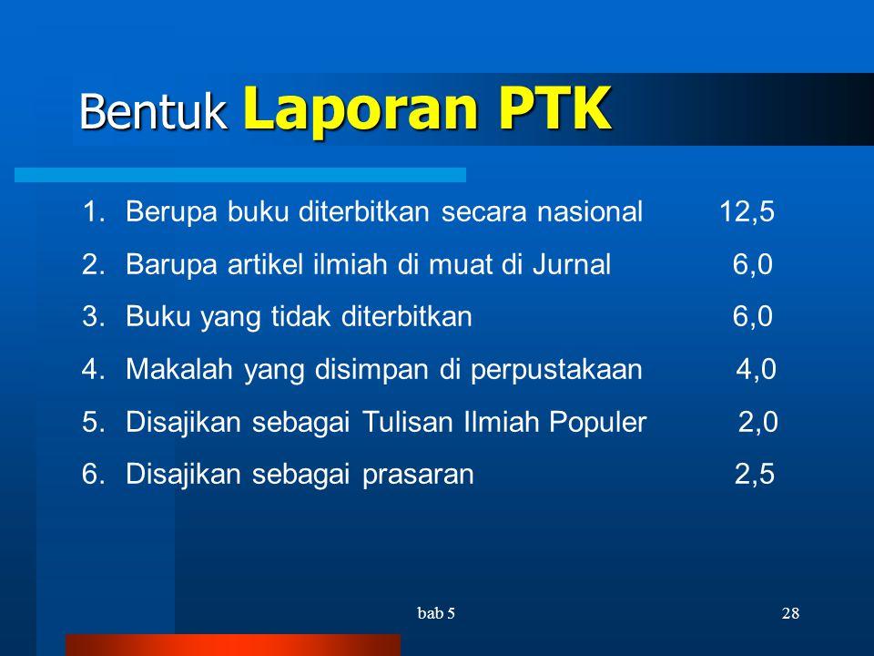 bab 527 KTI hasil PTK disarankan..