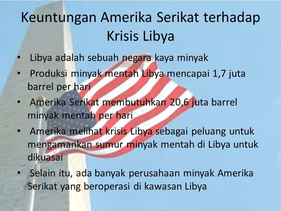 Kesimpulan Amerika Serikat memandang Libya sebagai musuh.