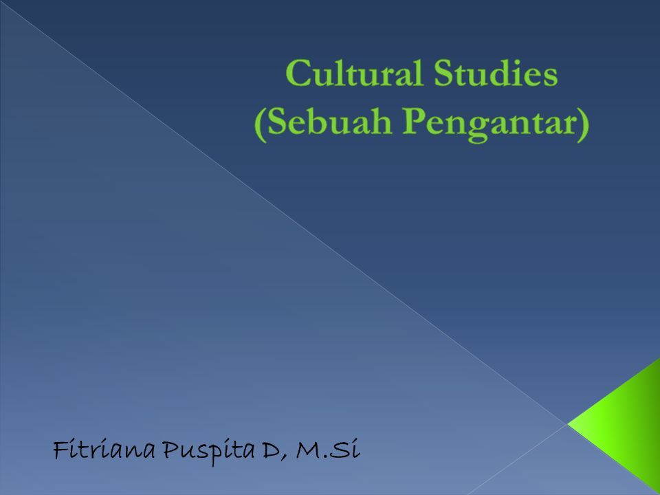 Studi Budaya Cultural Studies