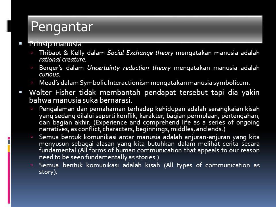 Pengantar  Prinsip manusia  Thibaut & Kelly dalam Social Exchange theory mengatakan manusia adalah rational creature.  Berger's dalam Uncertainty r