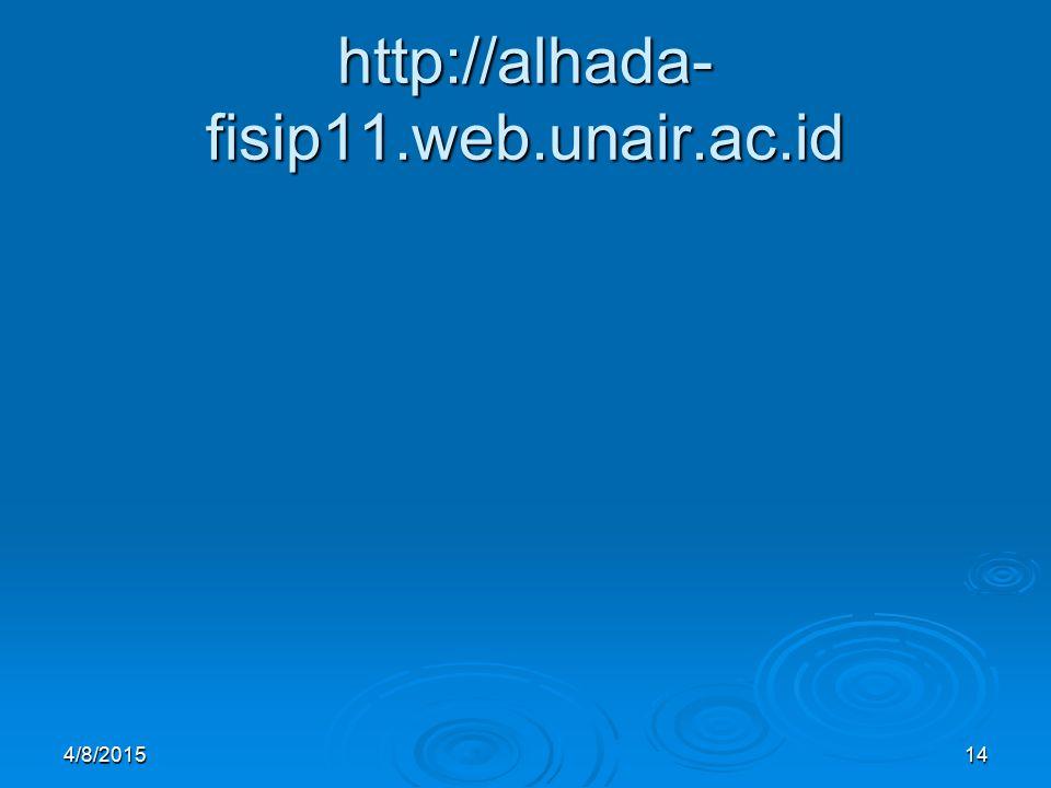 http://alhada- fisip11.web.unair.ac.id 4/8/201514