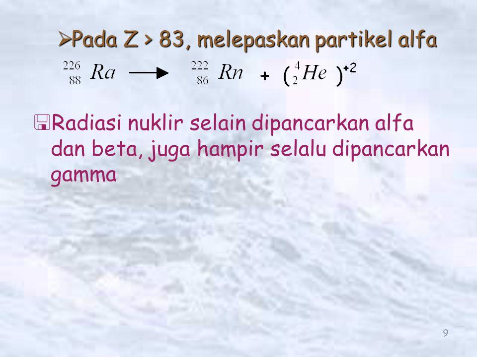 10 Hipotesis Rutherford   Unsur radioaktif mengalami transformasi spontan   Perubahan itu disertai dengan pemancaran radiasi.