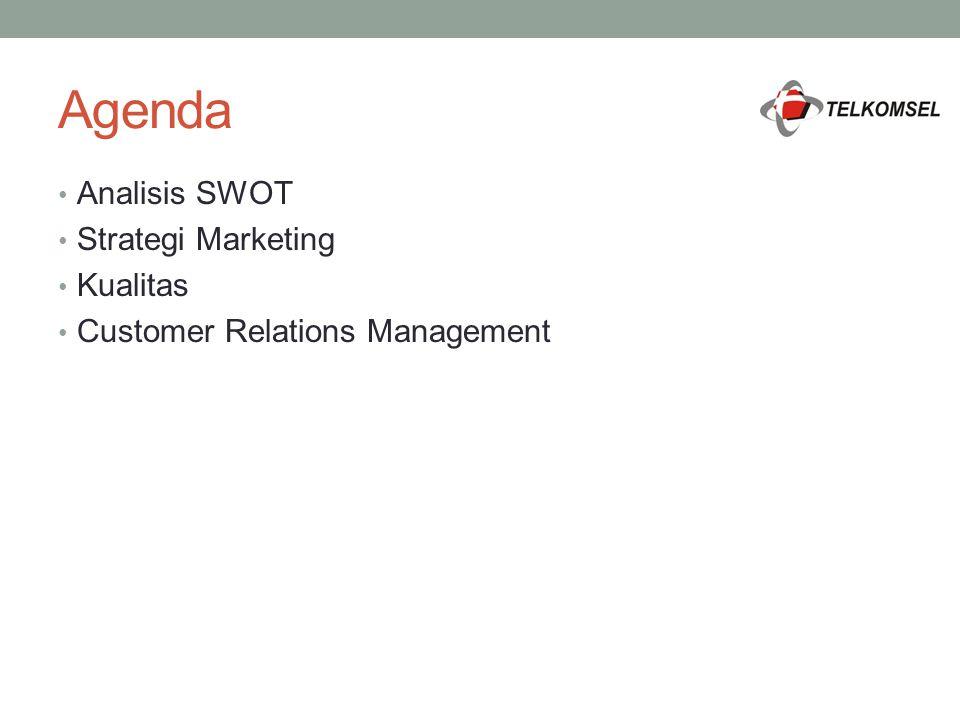 Agenda Analisis SWOT Strategi Marketing Kualitas Customer Relations Management