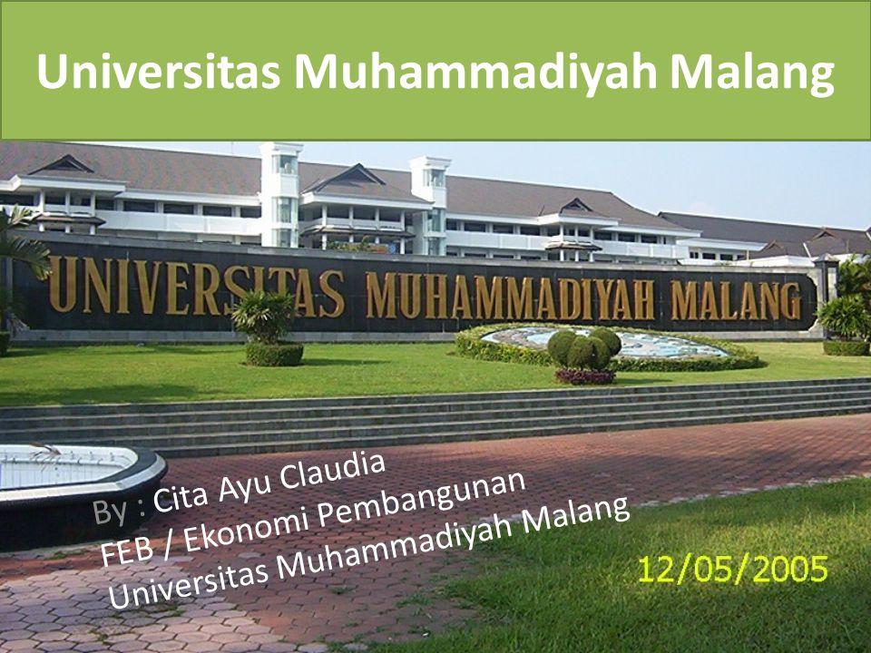 Universitas Muhammadiyah Malang By : Cita Ayu Claudia FEB / Ekonomi Pembangunan Universitas Muhammadiyah Malang