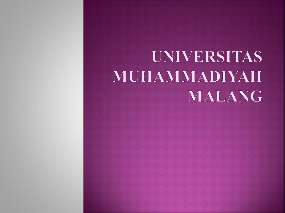  Universitas Muhammadiyah Malang (UMM) yang berdiri pada tahun 1964.