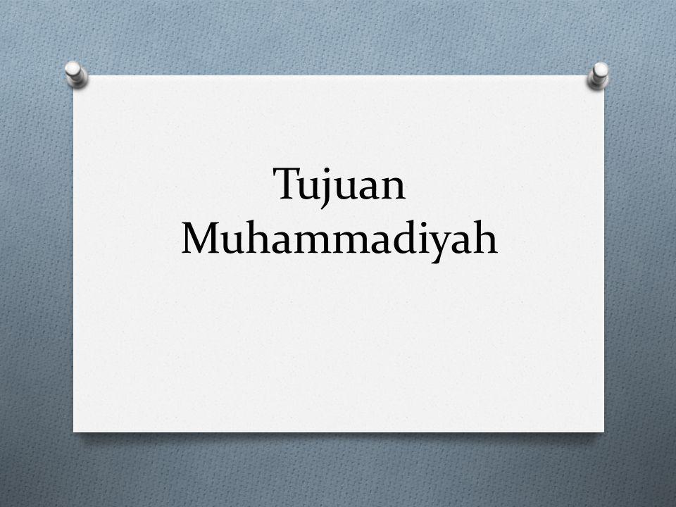 Tujuan Muhammadiyah