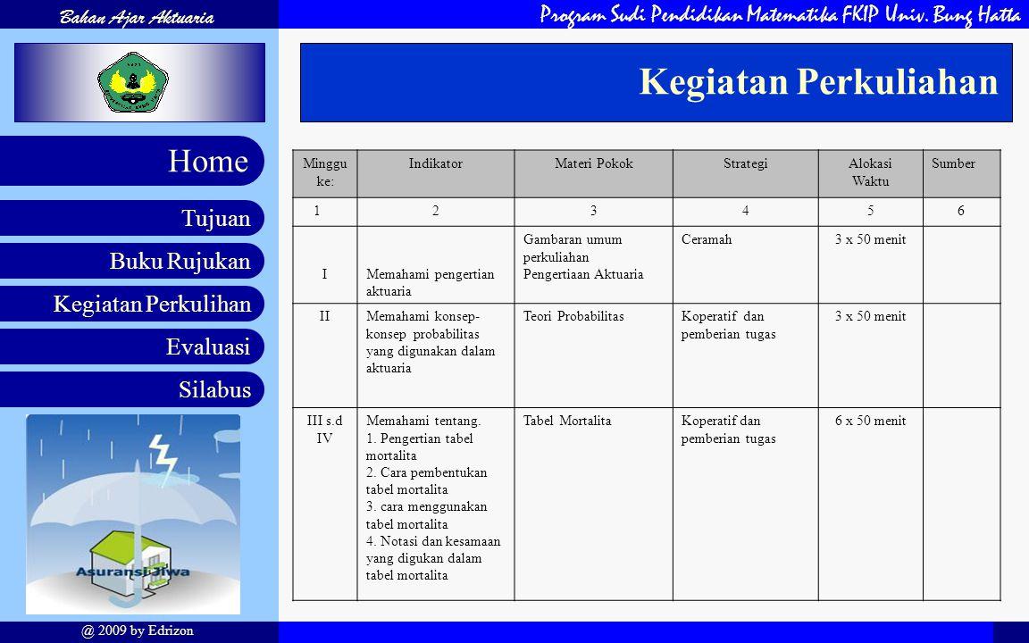 Program Sudi Pendidikan Matematika FKIP Univ.