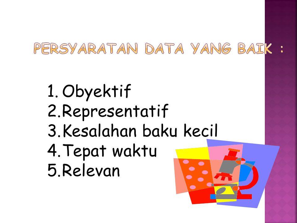  Data kualitatif adalah data yang tidak berbentuk angka.