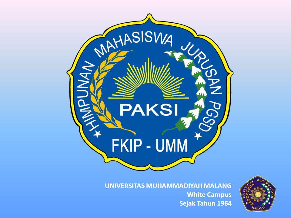 Office Center of HMJ PAKSI CP : 085755614341 Sekretariat: Student Center Lt.2,5 – UMM Kampus III PGSD Prima Dalam Prestasi