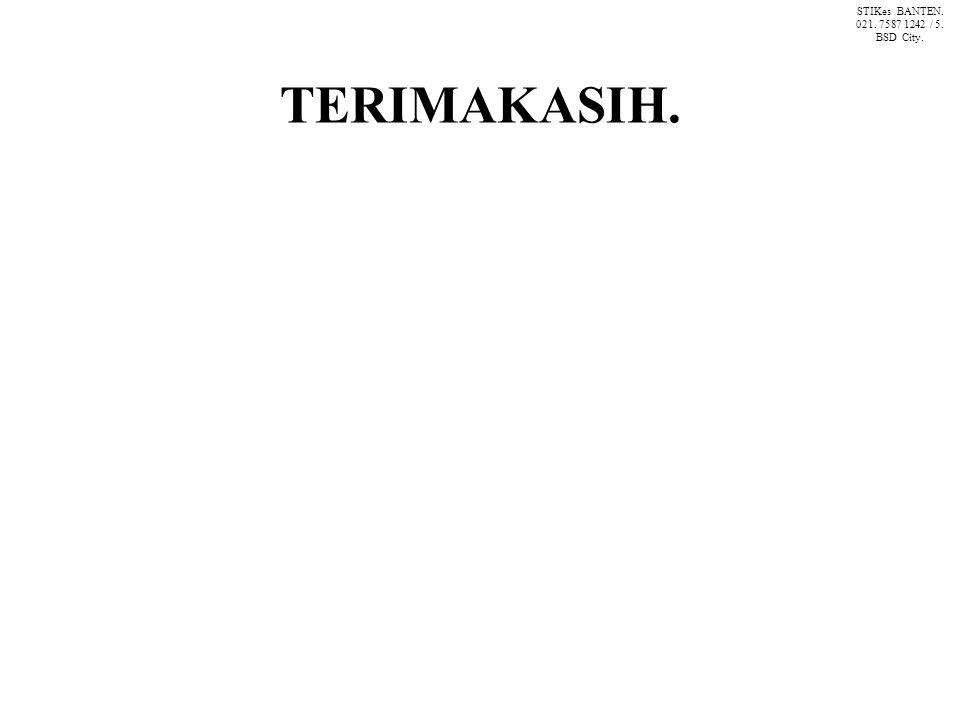 TERIMAKASIH. STIKes BANTEN. 021. 7587 1242 / 5. BSD City.