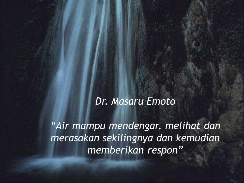 """Dr. Masaru Emoto """"Air mampu mendengar, melihat dan merasakan sekilingnya dan kemudian memberikan respon"""""""