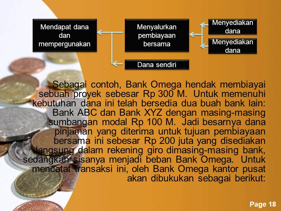 Powerpoint Templates Page 17 Pinjaman untuk Pembiayaan Bersama Kewenangan pemberian pinjaman untuk tujuan pembiayaan bersama proyek-proyek tertentu tetap berada pada kantor pusat.