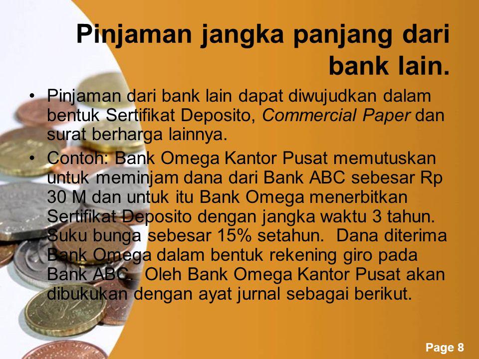 Powerpoint Templates Page 7 Jenis-Jenis Pinjaman Yang Diterima 1.Pinjaman jangka panjang dari bank lain.