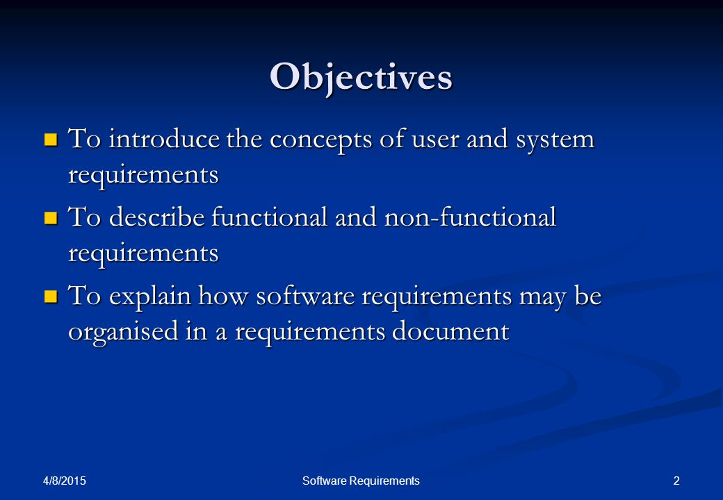 4/8/2015 13Software Requirements Non-functional requirement types