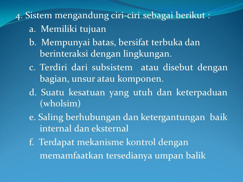 1. Sistem adalah sehimpunan gagasan (ide), prinsip, doktrin, hukum dan sebagainya yang membentuk suatu kesatuan yang logik dan berisi buah pikiran ter