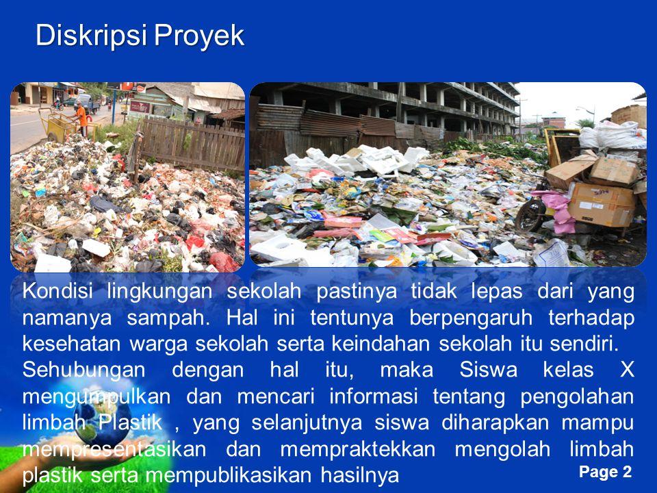 Free Powerpoint Templates Page 1 Free Powerpoint Templates LIMBAH DAUR ULANG LIMBAH PLASTIK INDONESIA DIGITAL LEARNING CIANJUR Kelompok 4 Asep Moh. Mu