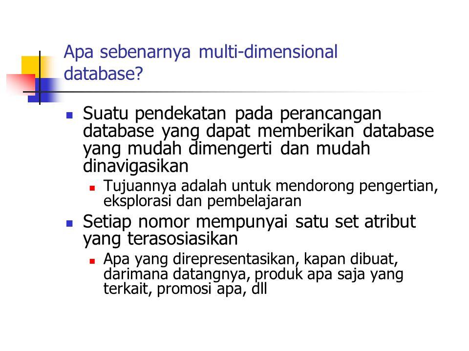 Apa sebenarnya multi-dimensional database? Suatu pendekatan pada perancangan database yang dapat memberikan database yang mudah dimengerti dan mudah d