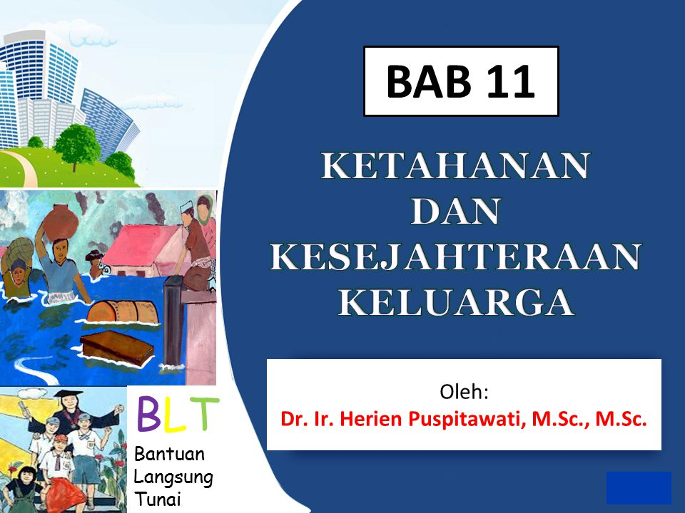 BLT Bantuan Langsung Tunai Oleh: Dr. Ir. Herien Puspitawati, M.Sc., M.Sc. BAB 11