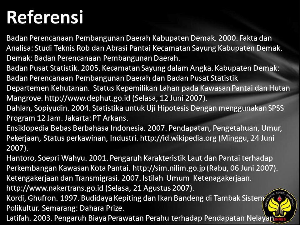 Referensi Badan Perencanaan Pembangunan Daerah Kabupaten Demak.