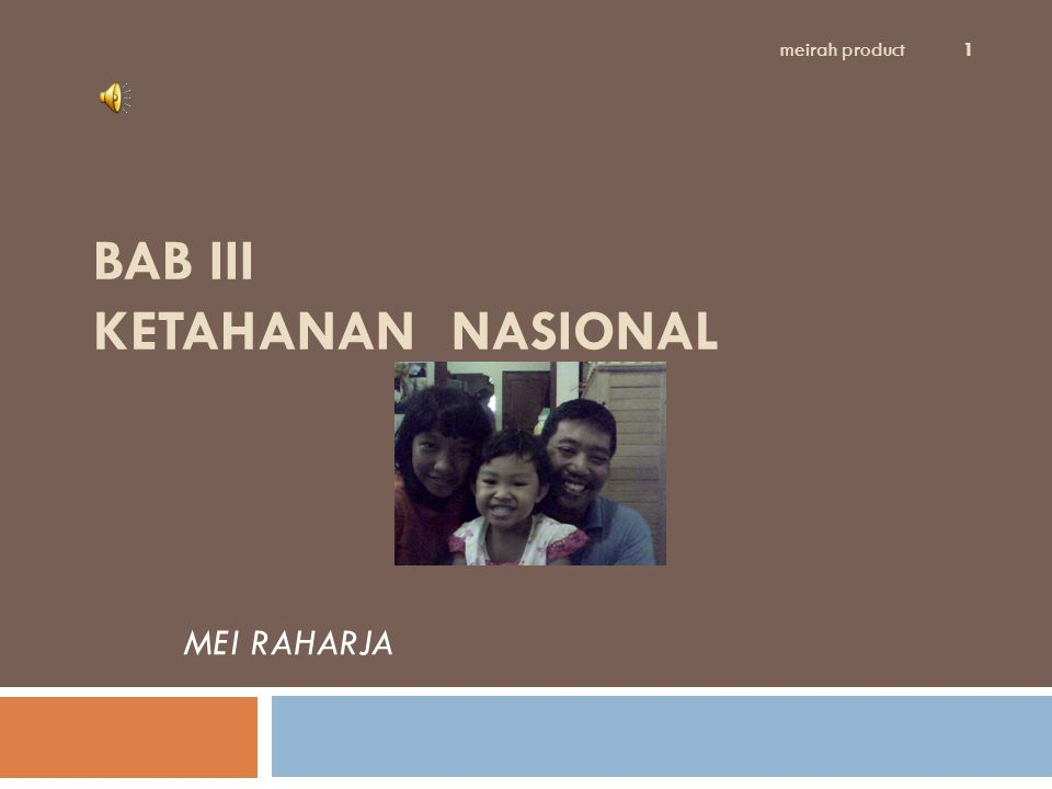 BAB III KETAHANAN NASIONAL MEI RAHARJA meirah product 1