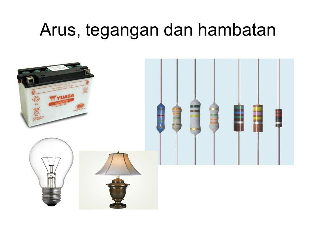 Arus listrik Arus listrik merupakan sejumlah elektron yang mengalir dalam tiap detiknya pada suatu penghantar.