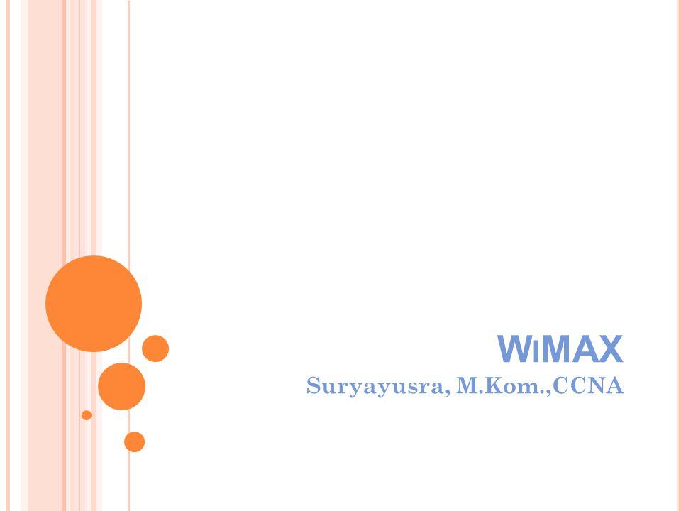 W I MAX Suryayusra, M.Kom.,CCNA