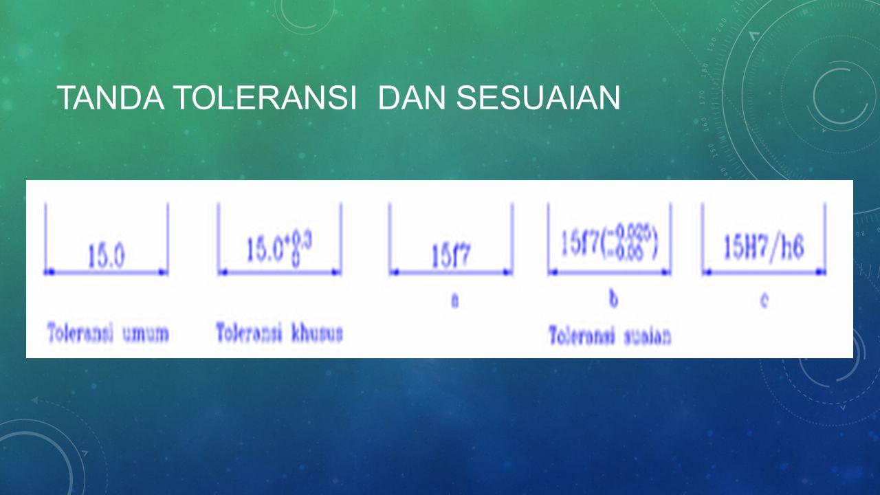 TANDA TOLERANSI DAN SESUAIAN