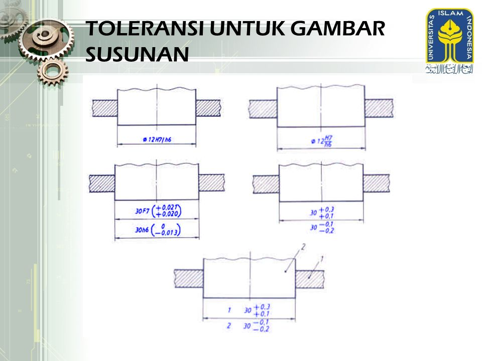 TOLERANSI UNTUK GAMBAR SUSUNAN