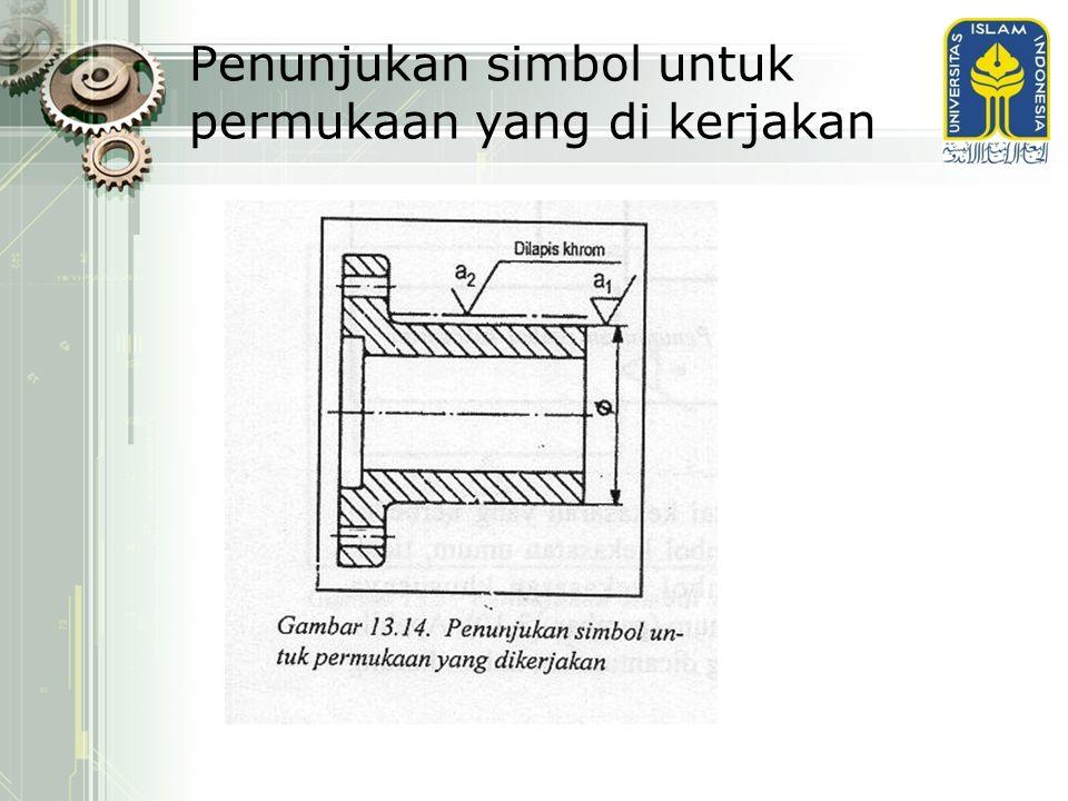 Penunjukan simbol untuk permukaan yang di kerjakan