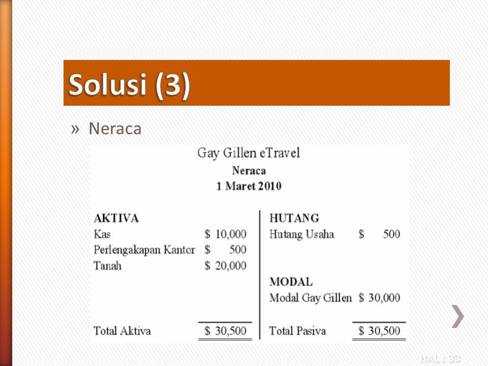 HAL : 33 » Neraca