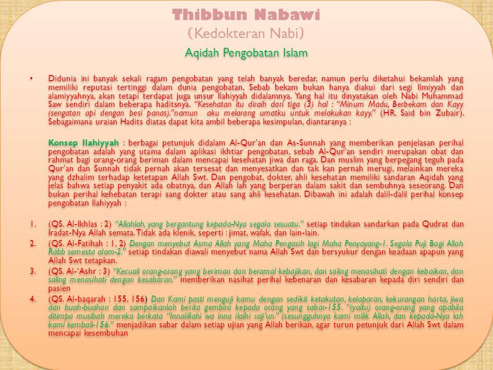 KAIDAH BEKAM/ HIJAMAH Sebagaimana yang telah dilansir diatas bekam memiliki konsep Ilahiyyah, alamiyyah dan ilmiyyah, sehingga bekam adalah jenis peng