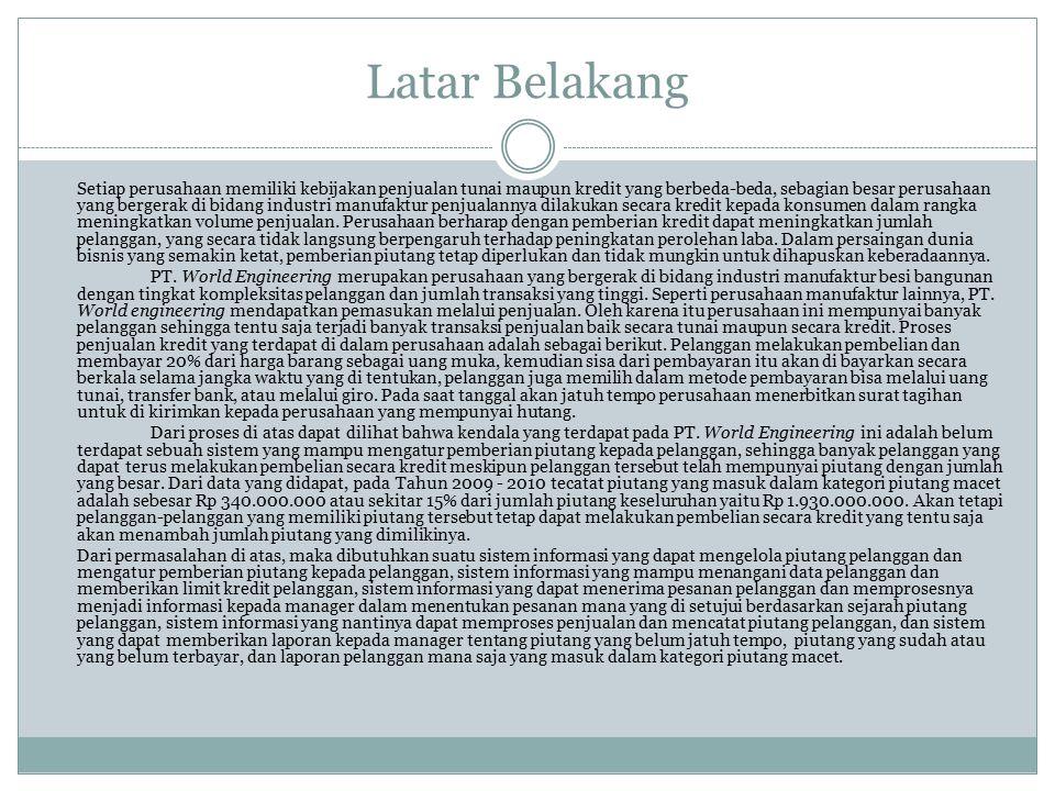 Landasan Teori Piutang Piutang adalah aktiva atau kekayaan yang timbul sebagai akibat dari dilaksanakannya penjualan kredit (Farah margaretha, 2011).