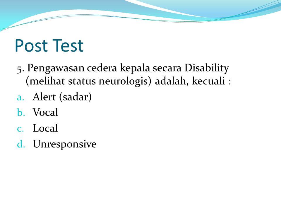 Post Test 5.