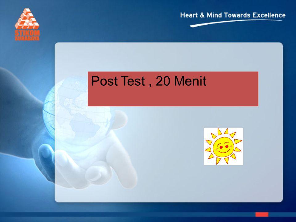 Post Test, 20 Menit
