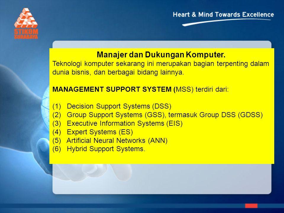 Manajer dan Dukungan Komputer.