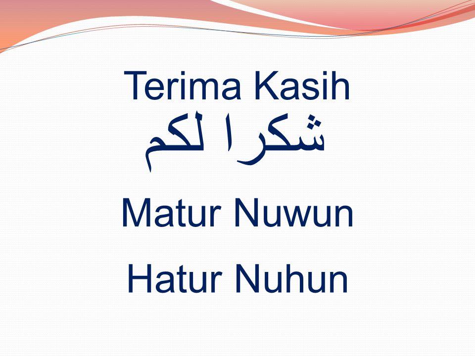 Terima Kasih شكرا لكم Matur Nuwun Hatur Nuhun