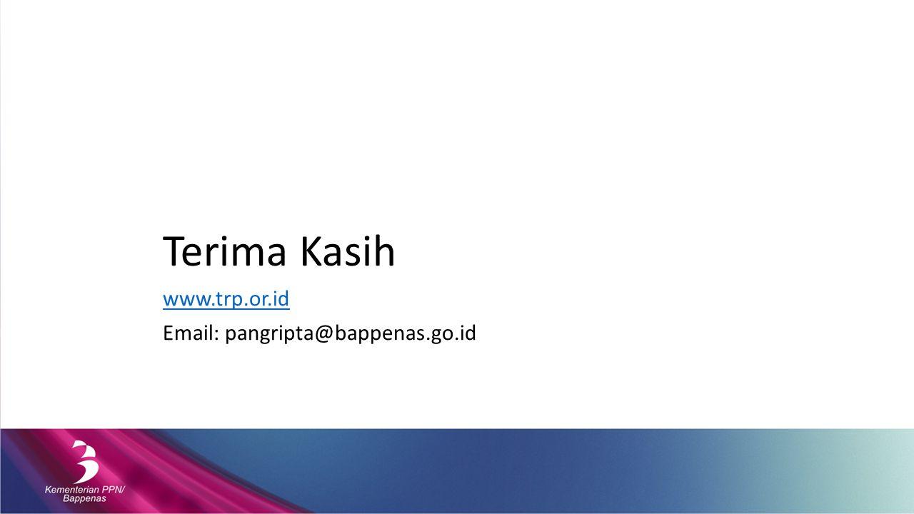 Terima Kasih www.trp.or.id Email: pangripta@bappenas.go.id