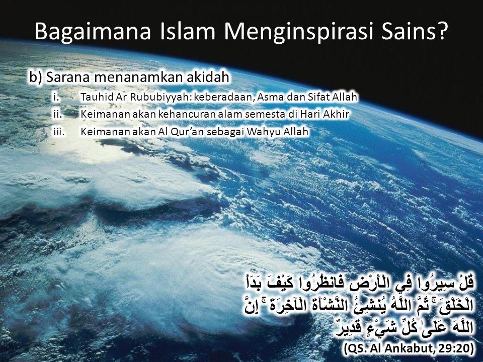 Bagaimana Islam Menginspirasi Sains?