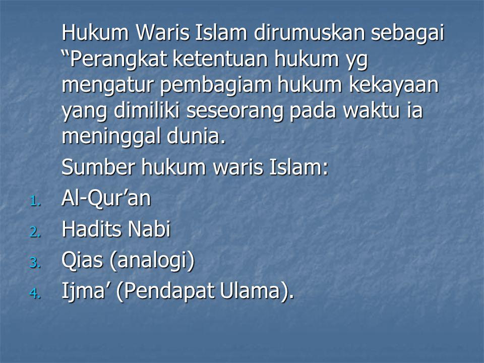 Keberlakuan Hk Waris 1.Hukum waris isla berlaku bagi golongan penduduk yang beragama islam.