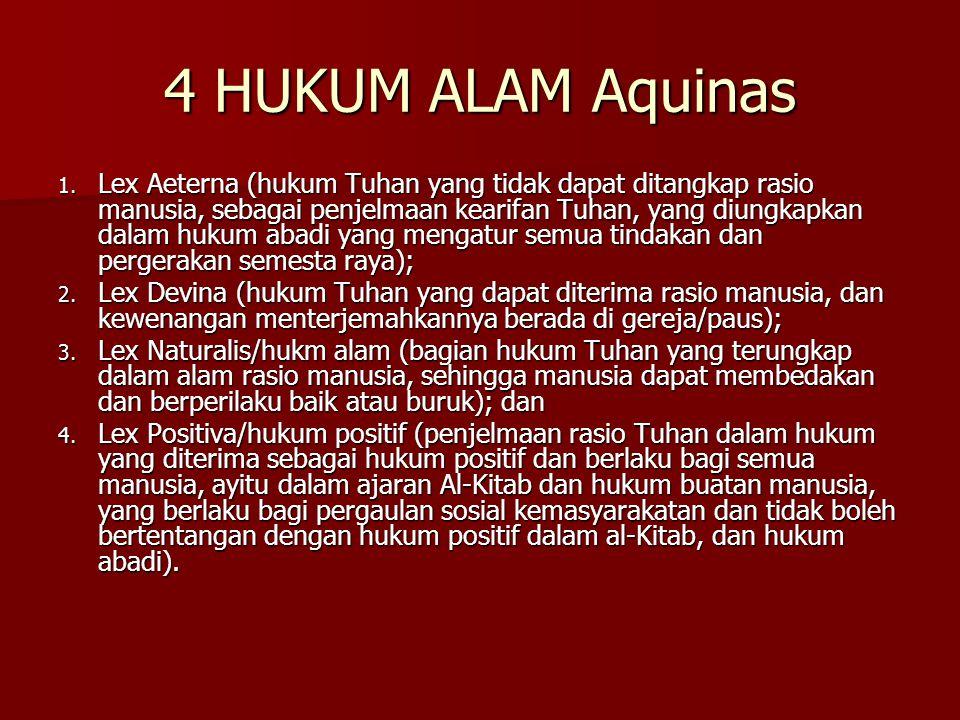 4 HUKUM ALAM Aquinas 1.