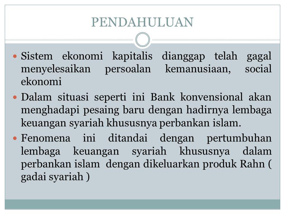 Secara umum, penerapan gadai yang dikombinasikan dengan pembiayaan di perbankan syariah, dapat digambarkan sebagai berikut : Marhun Bih ( Pembiayaan ) Marhun ( Jaminan ) Rahin ( Nasabah ) Murtahin ( Bank ) (1)Titipan/ Gadai pembiayaan (4)Utang + Mark up (3) Akad Pembiayaan (2) Permohonan Pembiayaan