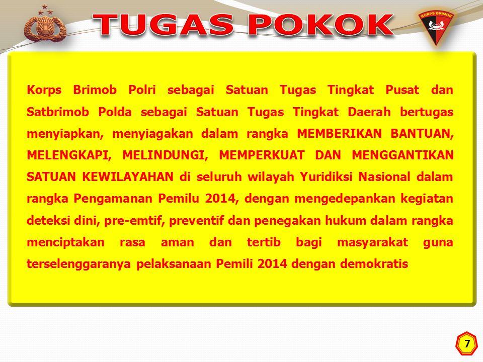 18 1.Prosedur penggunaan psk BKO bantuan TNI kpd Polri sesuai dgn ketentuan yg telah ditetapkan (atas permintaan Kapolda kepada Pangdam).