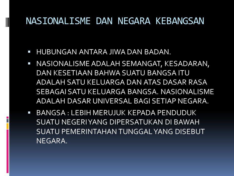 LIMA PRINSIP NASIONALISME  1.