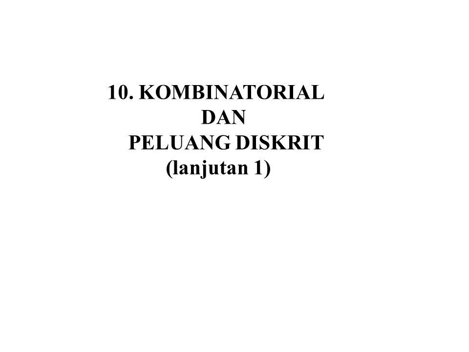 10.6 Permutasi ( 2 objek) 1 2 1 2 Pengaturan 2 objek yang berbeda menghasilkan 2 urutan yang berbeda 2 1