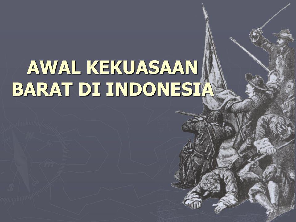  Aturan monopoli perdagangan VOC Petani rempah-rempah hanya boleh bertindak sebagai produsen.