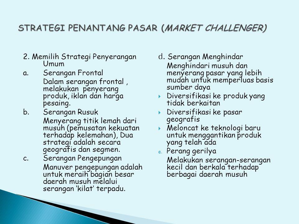 2.Memilih Strategi Penyerangan Umum a.