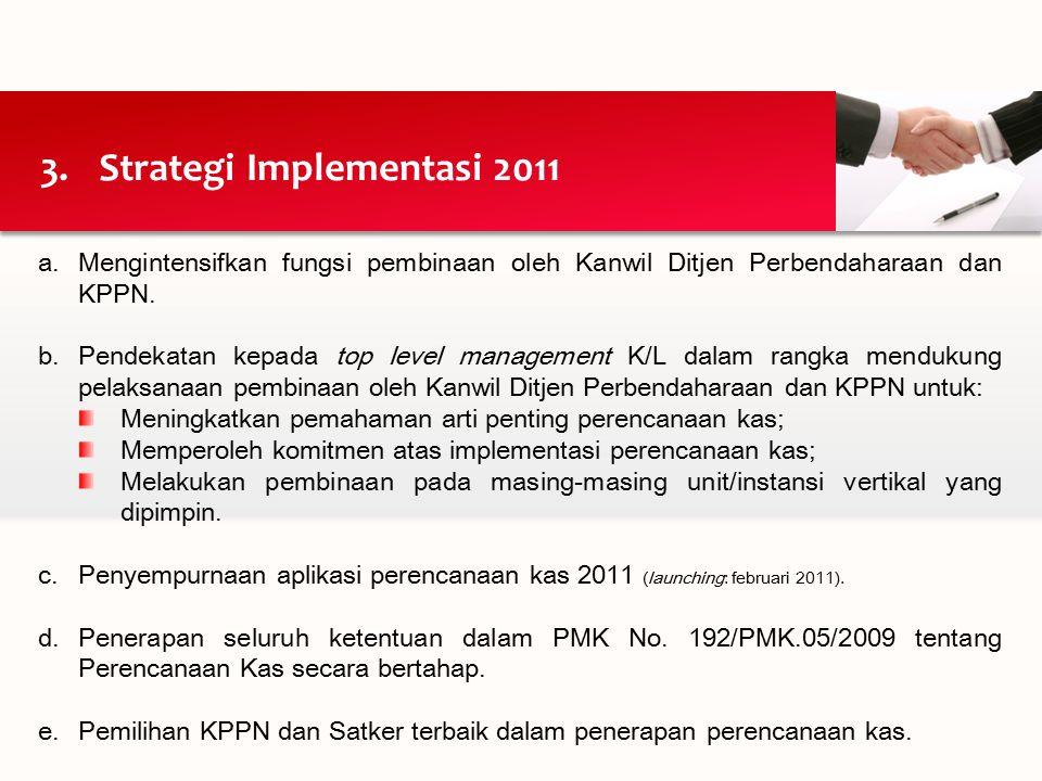 a.Mengintensifkan fungsi pembinaan oleh Kanwil Ditjen Perbendaharaan dan KPPN.